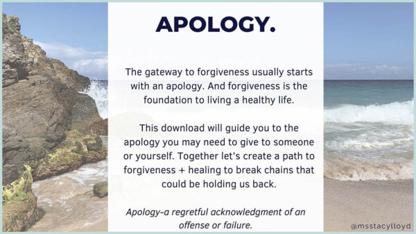 Ms. Stacy Lloyd Apology Download